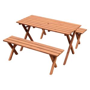 ピクニックテーブルセット ブラウン