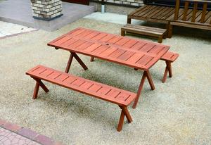デラックスピクニックテーブルセット ブラウン
